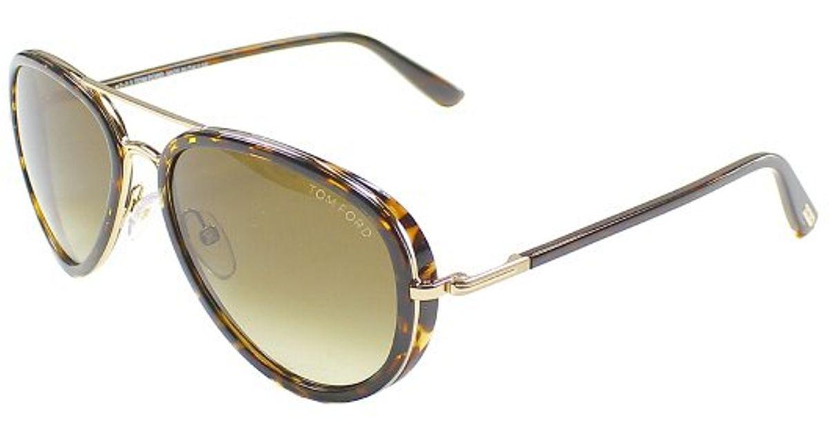 Lyst - Tom Ford Miles Tf 341 28k Dark Havana Gold Aviator Plastic Sunglasses  in Brown 76fd0e11e9d84