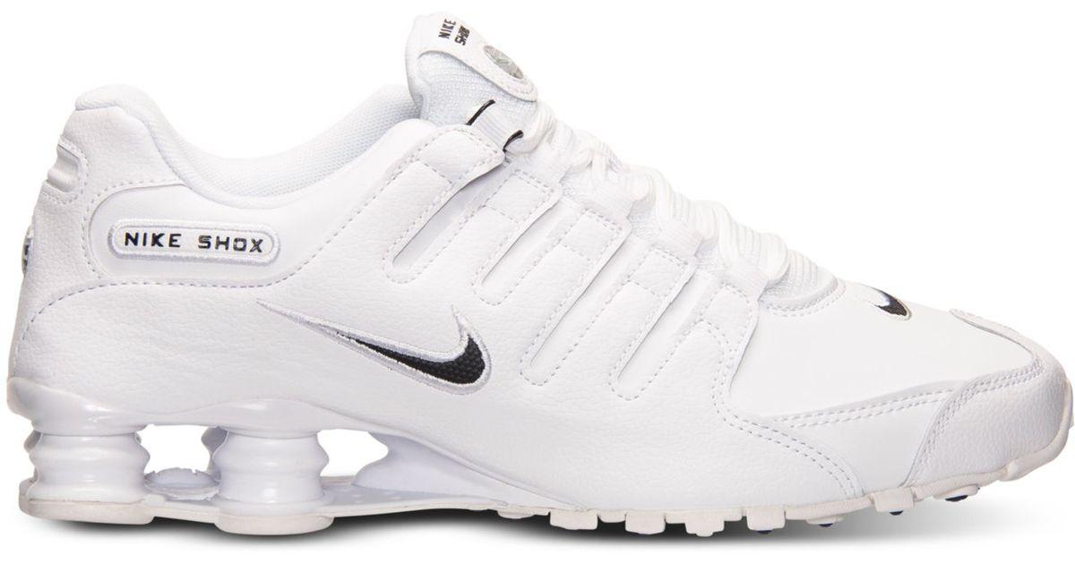 Lyst - Nike Men s Shox Nz Eu Running Sneakers From Finish Line in Black for  Men d1c355459