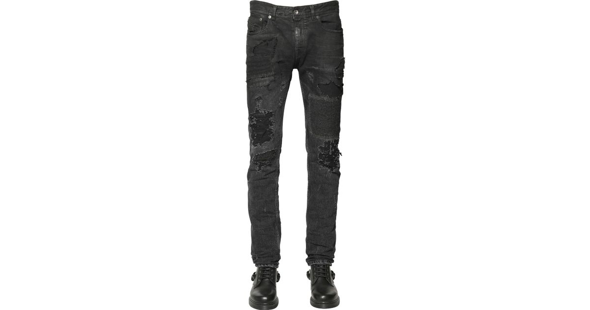 9d59fdaf842 Lyst - Diesel Black Gold 17cm 3d Extra Long Stretch Denim Jeans in Black  for Men