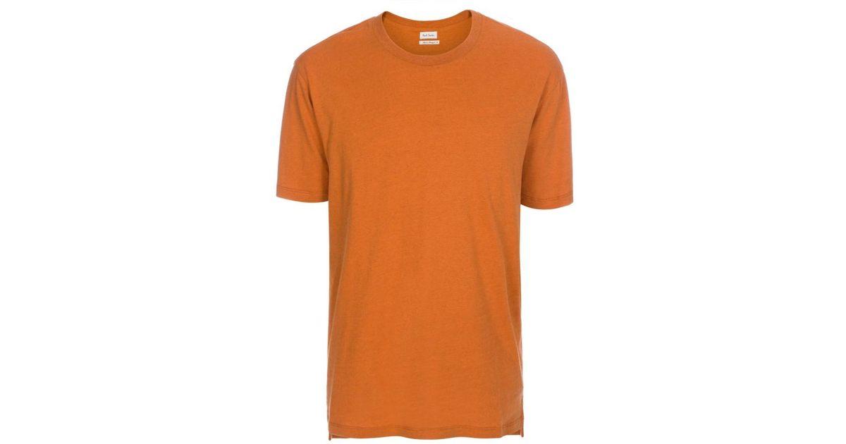 5e22cdb6f136f6 Lyst - Paul Smith Men s Burnt Orange Cotton And Silk-blend T-shirt in Orange  for Men