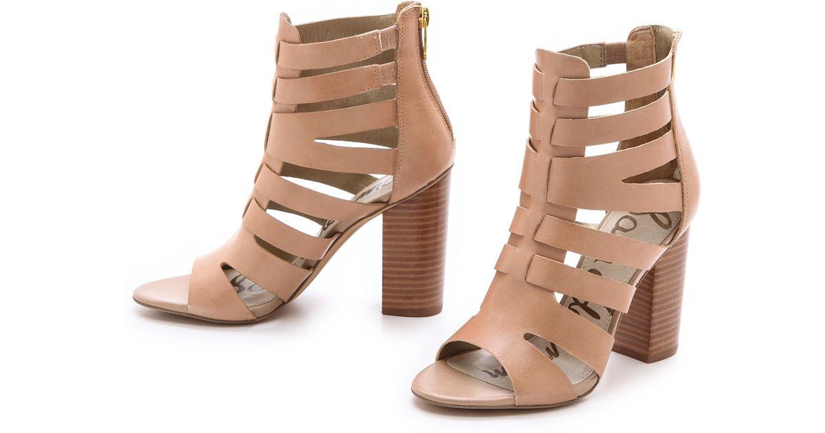 c5effd1b69c1d Sam Edelman Yazmine Cutout Sandals in Brown - Lyst