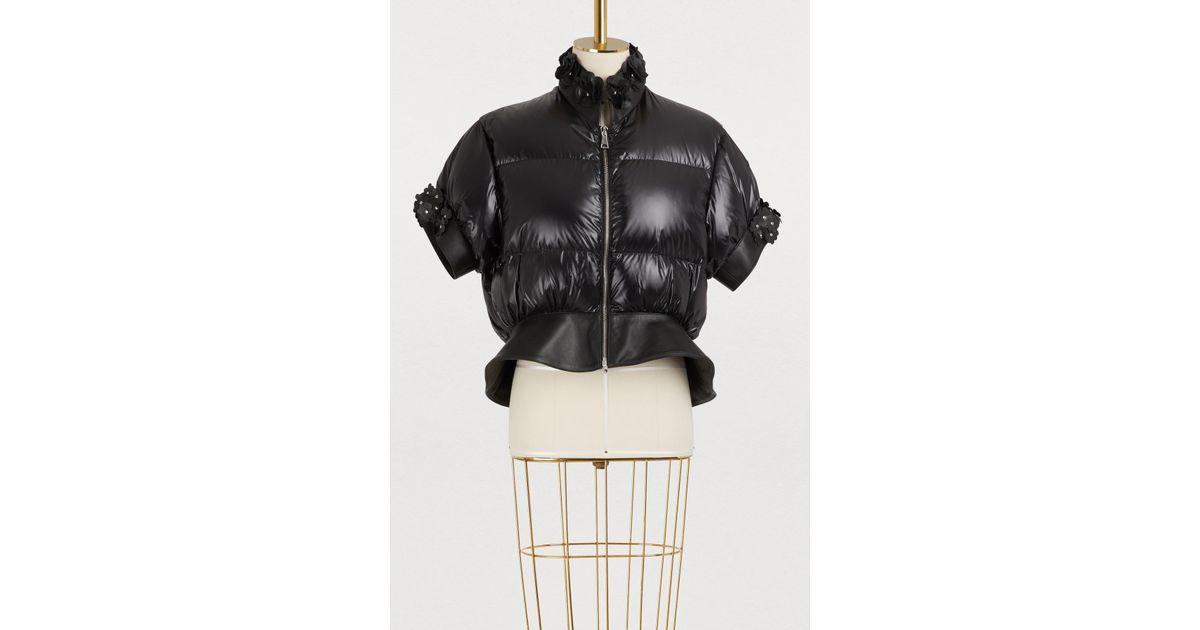 2e21ad89c Moncler Genius - Black Moncler X Noir Kei Ninomiya Crop Bomber Jacket - Lyst
