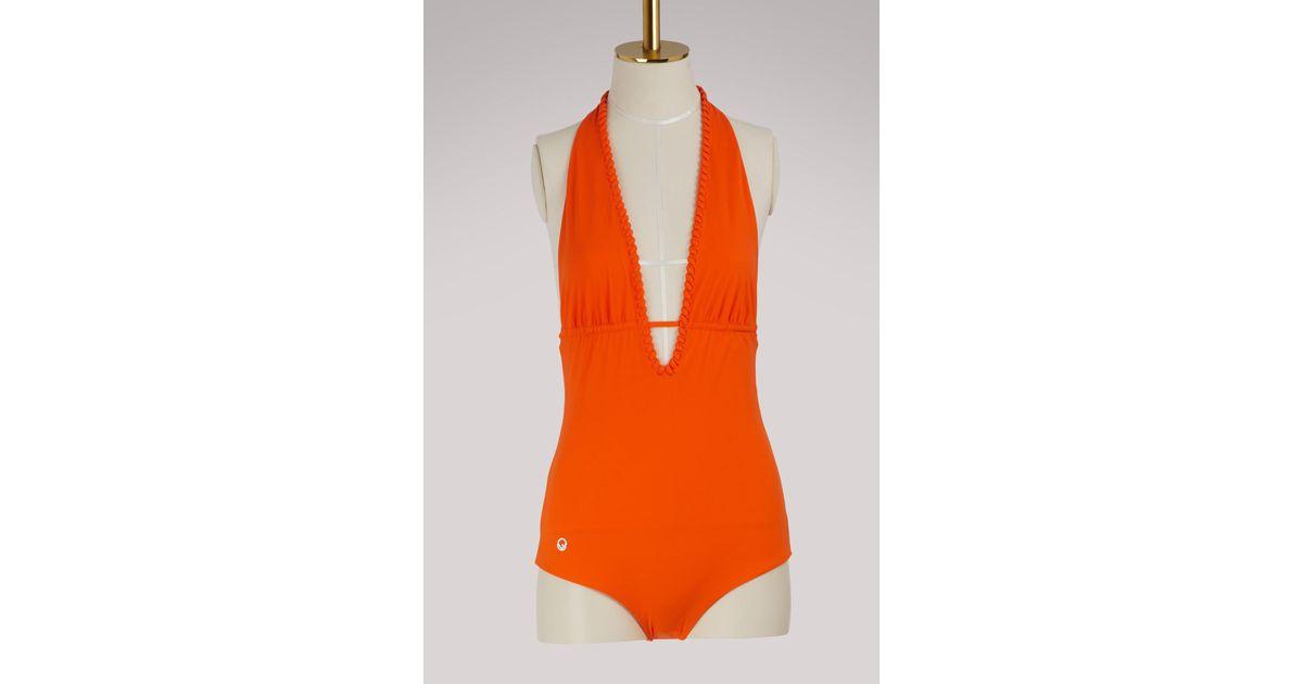 Orange Coloris De En Maillot Lyst Fendi Bain OngRqFB 5c6458185ea