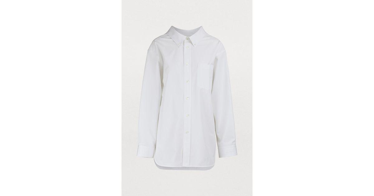 4727765d2fd818 Balenciaga Swing Collar Shirt in White - Lyst