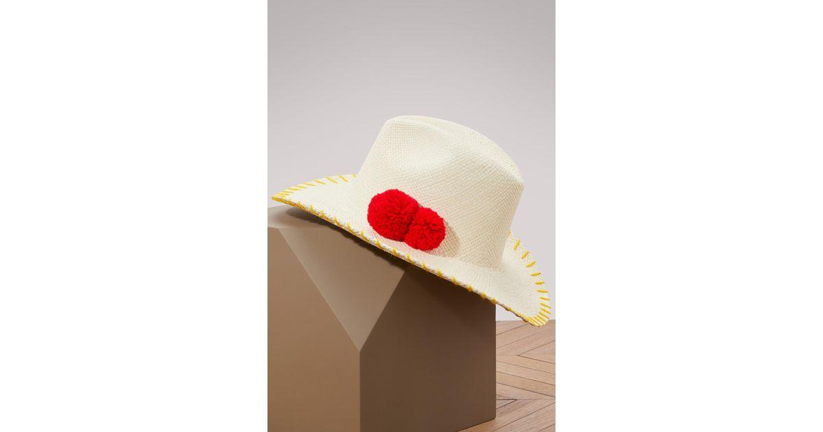 9e19cf86fa3 Lyst - Sensi Studio Cowboy Panama Hat With Pom-poms