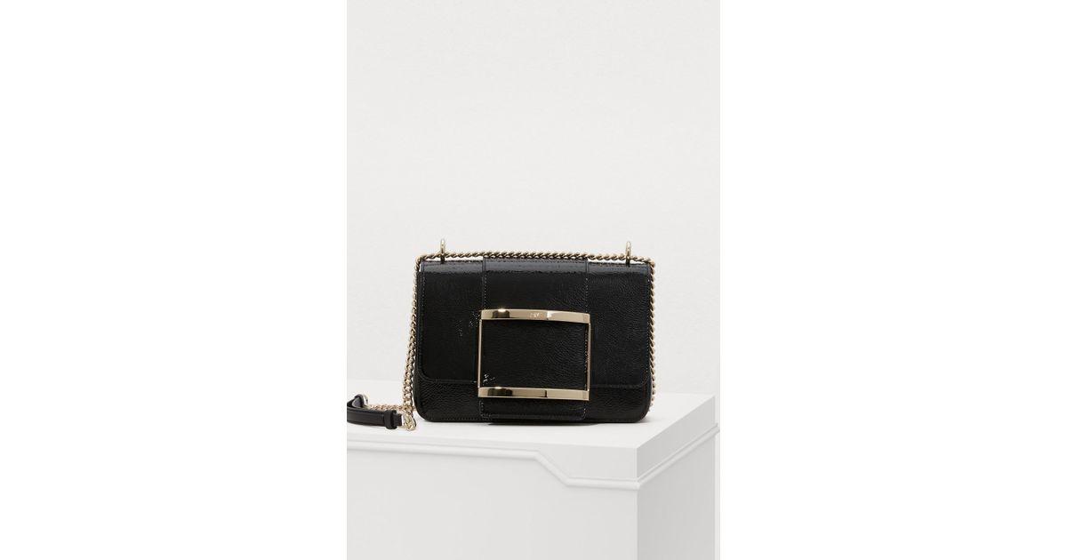 555cf7777667 Lyst - Roger Vivier Très Vivier Small Shoulder Bag in Black