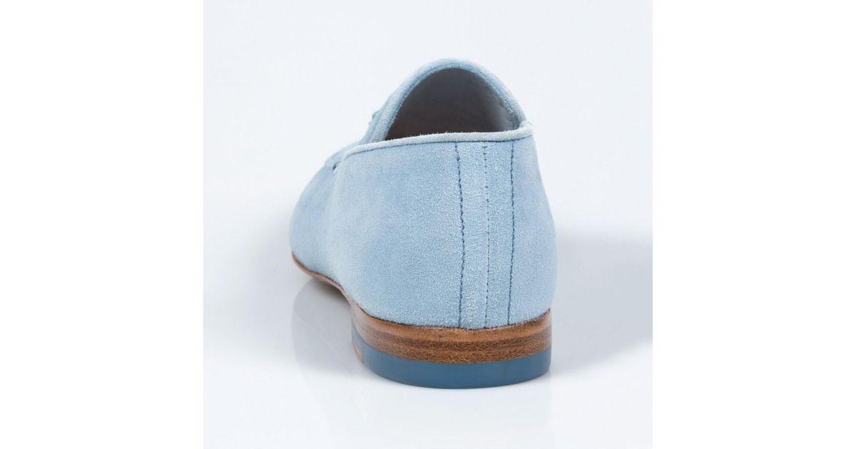 0cde9a967de Lyst - Paul Smith Women S Sky Blue Suede Tasseled  Stevenson  Loafers in  Blue
