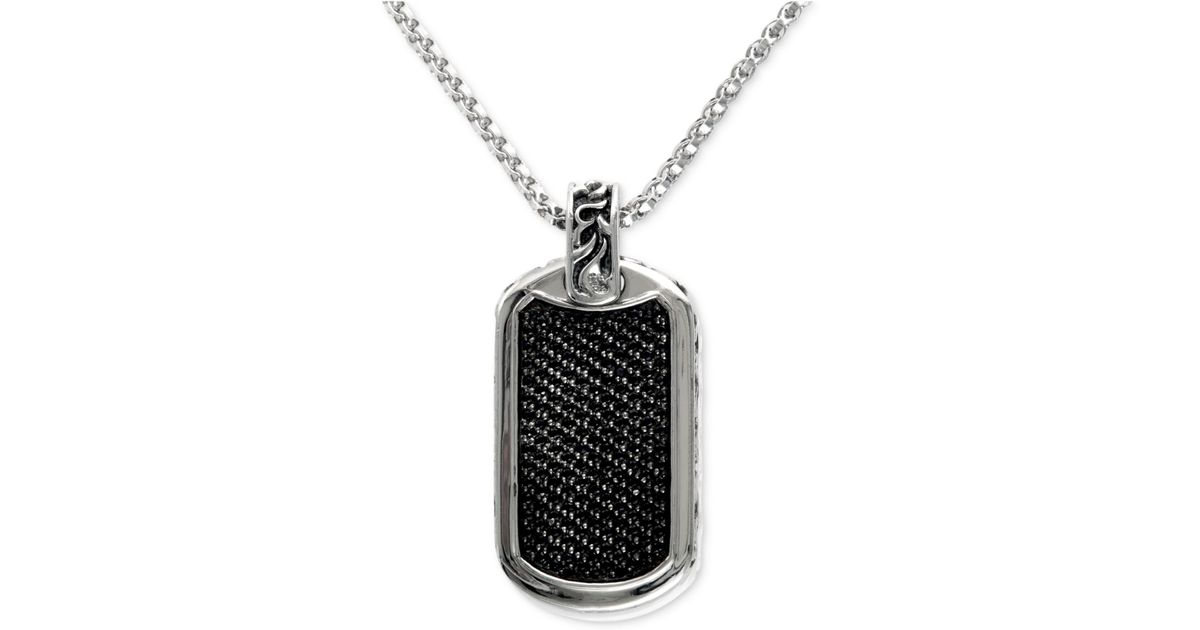 Effy Collection Gento By Effy Men's Black Sapphire Id Tag. Spinel Rings. Couple Necklace. Country Rings. High End Jewelry. Multi Diamond Bands. Iron Rings. Thin Solid Gold Bangle. Enamel Bangle Bracelets