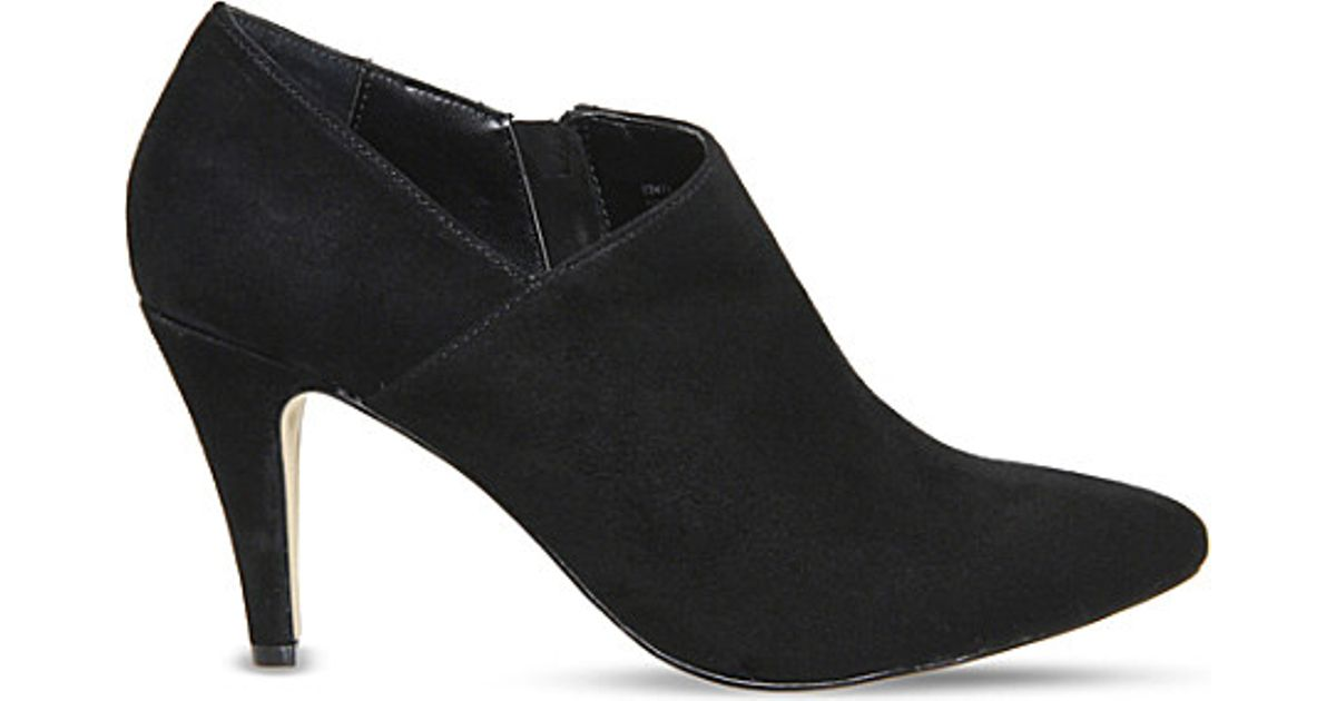 Office Quirky Suede Shoe Boots in Black - Lyst 7eaaac6938