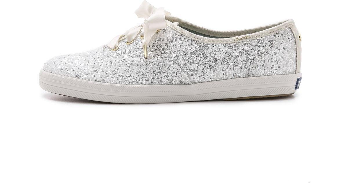 kate spade new york glitter keds sneakers blue in white