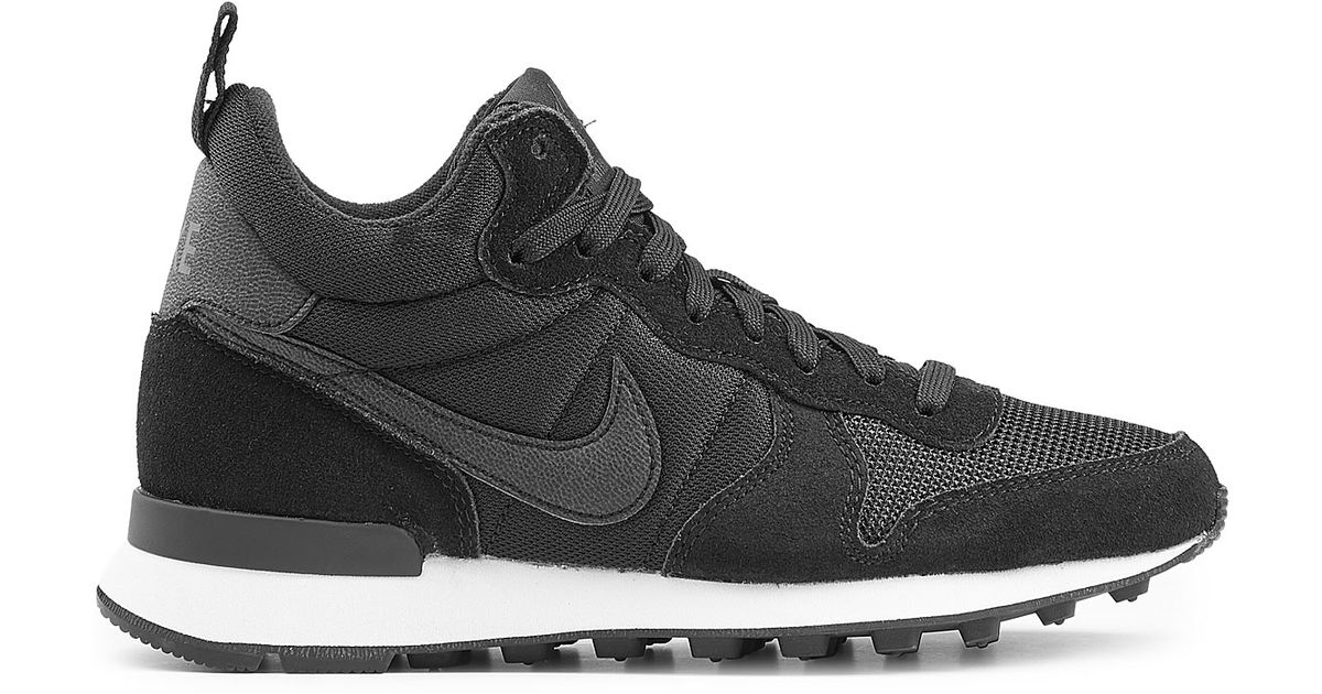 443f8fa10695 Lyst - Nike Internationalist Mid Sneakers With Leather - Black in Black