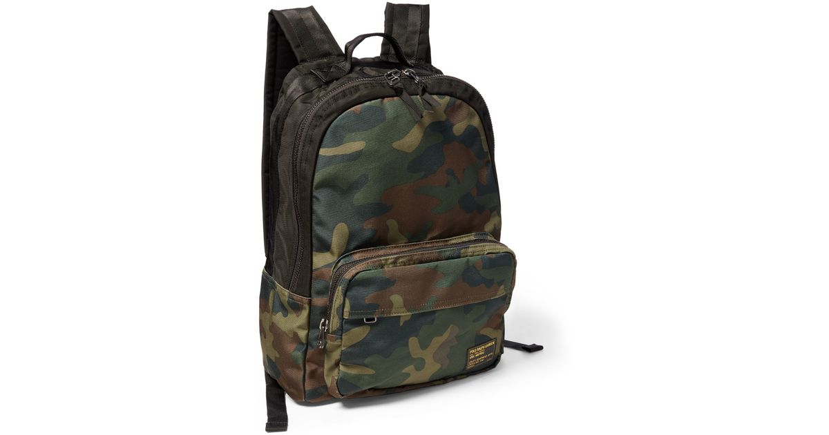 38707828fd2a Lyst - Polo Ralph Lauren Camo-print Military Backpack in Green for Men