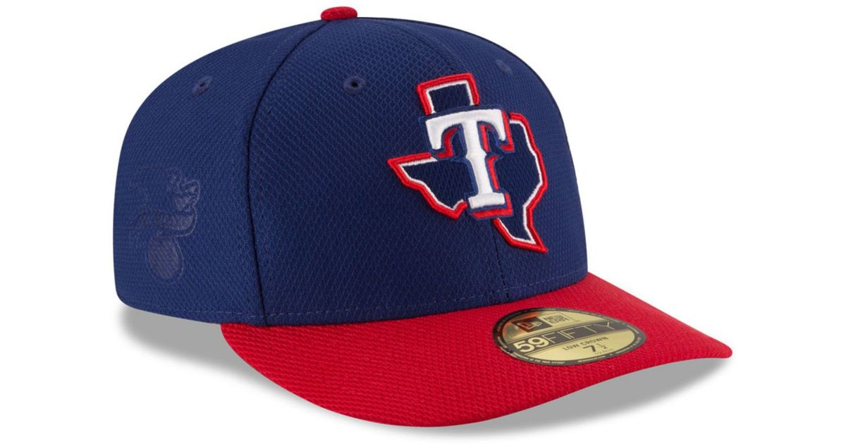 Lyst - KTZ Texas Rangers Low Profile Diamond Era 59fifty Cap in Metallic  for Men 64614e7c3c91