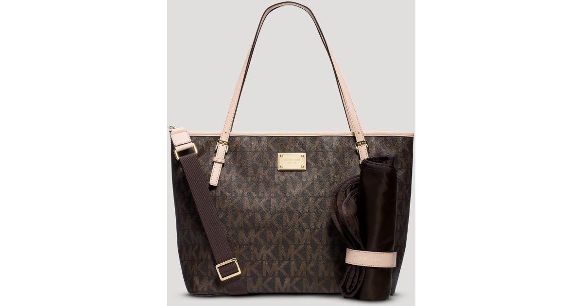 18103b875aa8ec MICHAEL Michael Kors Diaper Bag Jet Set Baby in Brown - Lyst