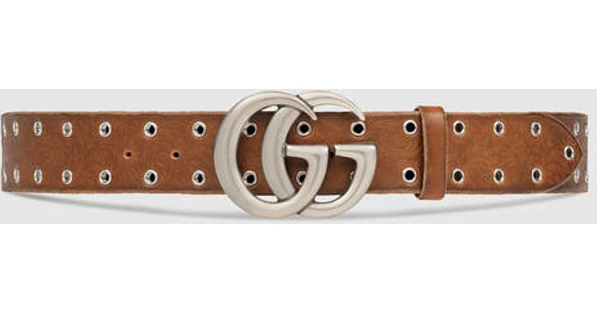 e80c49ad310 Gucci Leather Belt With Double G Buckle Red