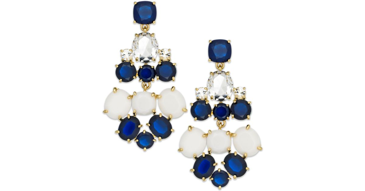 Kate spade new york Goldtone Blue And White Stone Chandelier ...