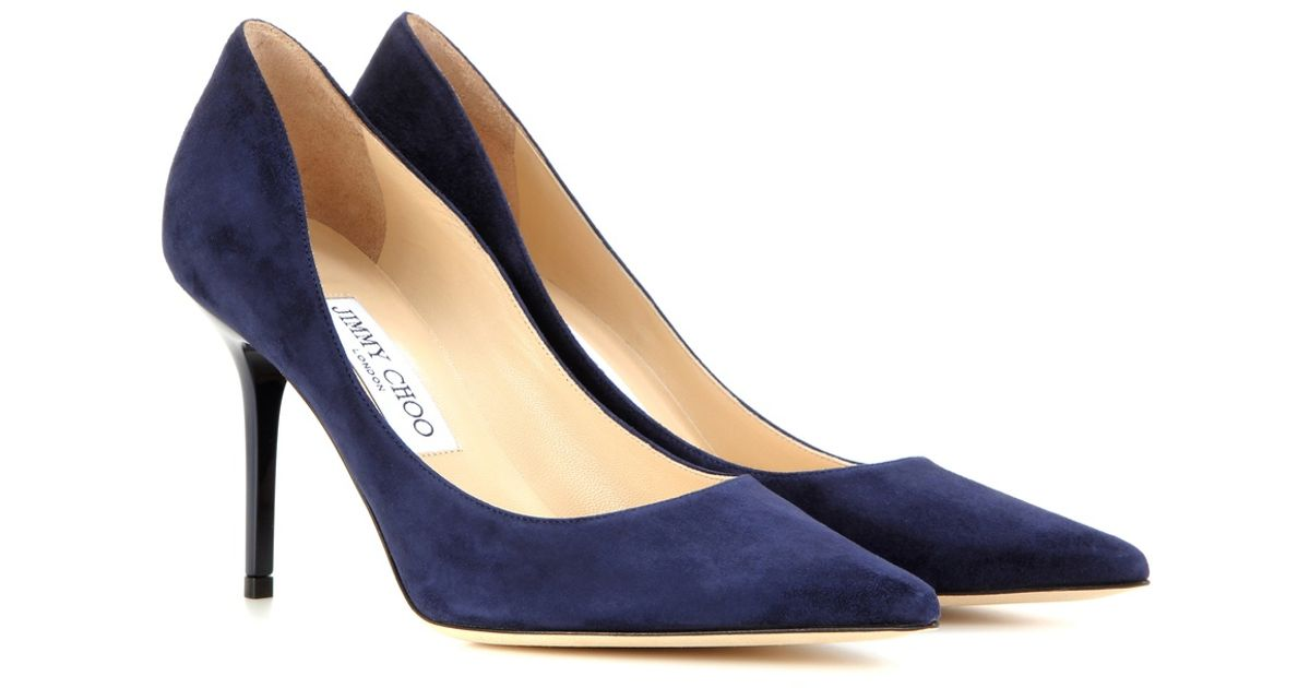 6c623818f400 Lyst - Jimmy Choo Agnes Suede Pumps in Blue