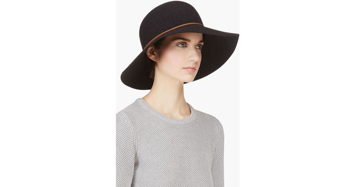 d48d3d78bf8 Lyst - Rag   Bone Black Wool Dunaway Hat in Black