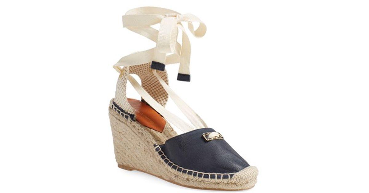 d5b7a54c1fac Lyst - Diane von Furstenberg  marcelle  Espadrille Wedge Sandal in Blue