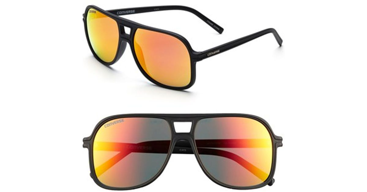 97c0aebbc6 Lyst - Converse  monitor  58mm Aviator Sunglasses in Black