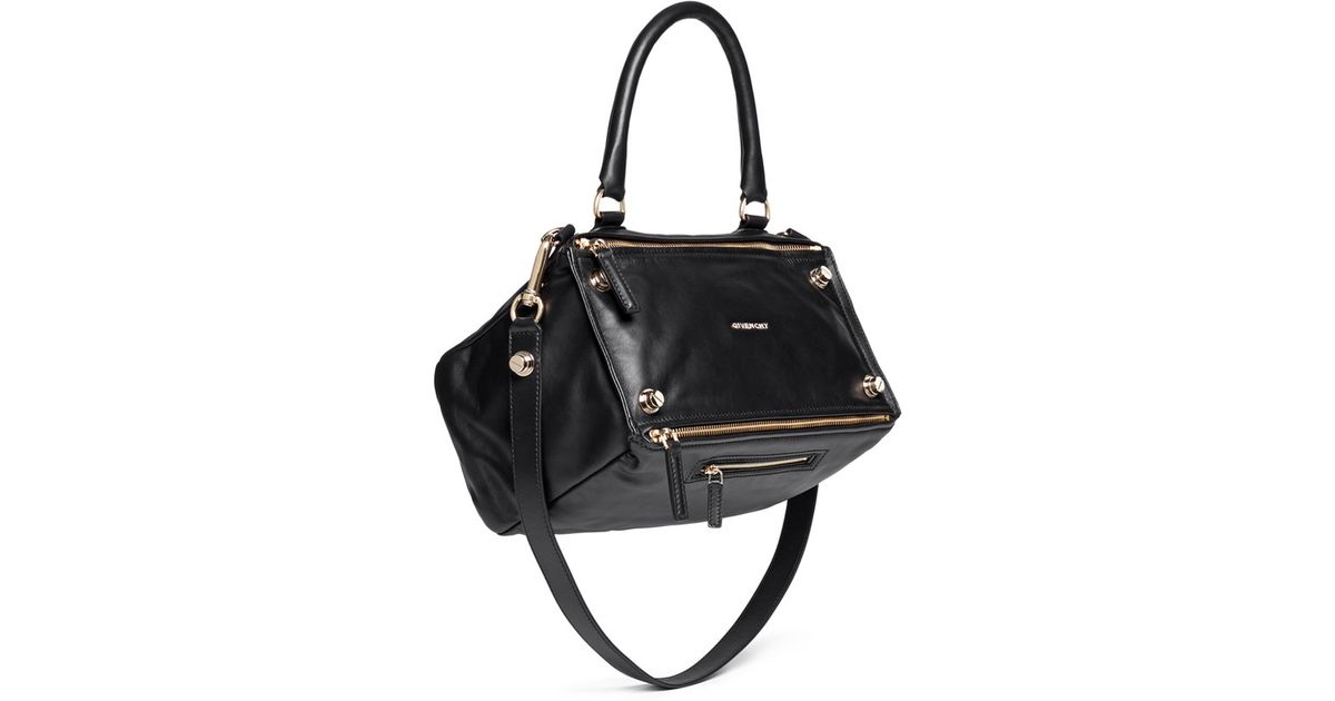 Lyst - Givenchy  pandora  Medium Stud Leather Bag in Black 80d7798dc30ea