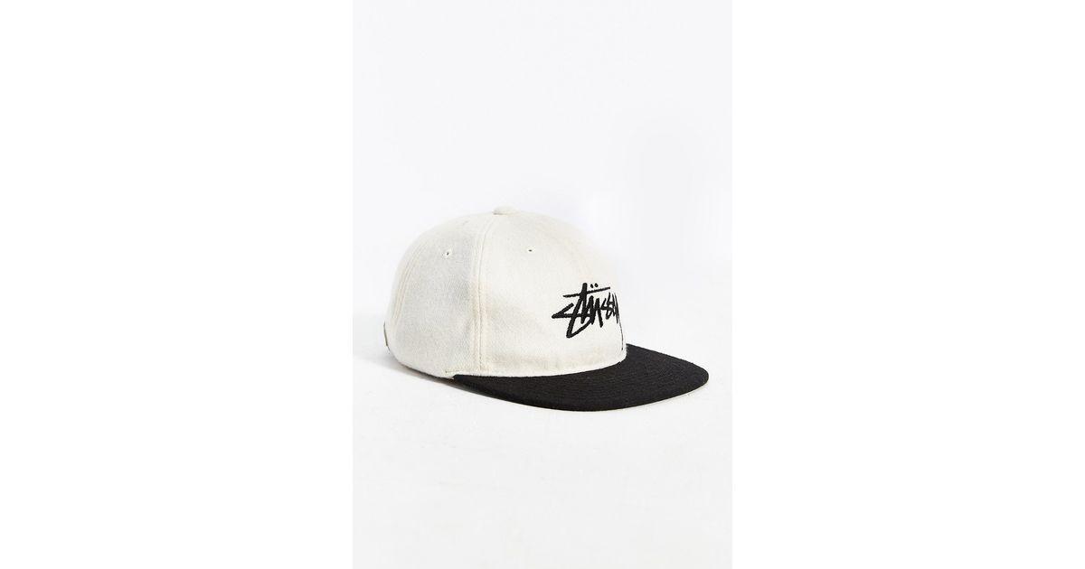 Stussy - White Stock Wool Strapback Hat for Men - Lyst 3fe63eba5f7