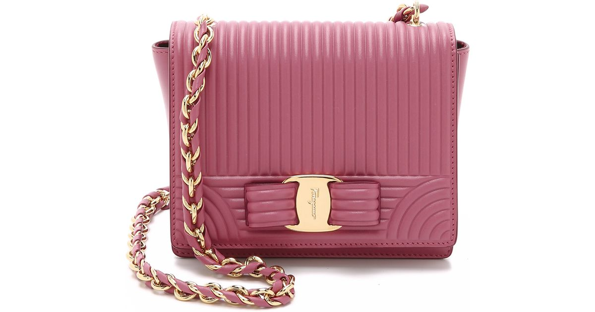 bb22e5a1ec43 Ferragamo Mini Ginny Bag - Griotte in Pink - Lyst