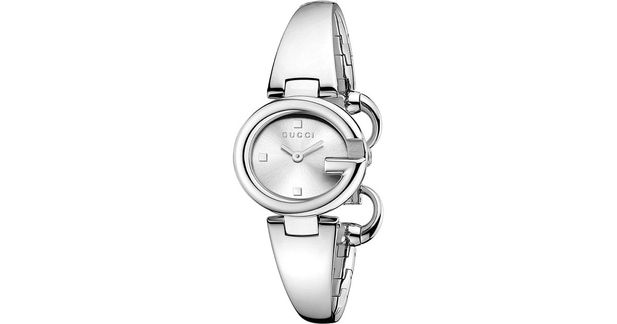 8d44ccb00e0 Lyst - Gucci Ya134502 Ssima Stainless Steel Watch in Metallic
