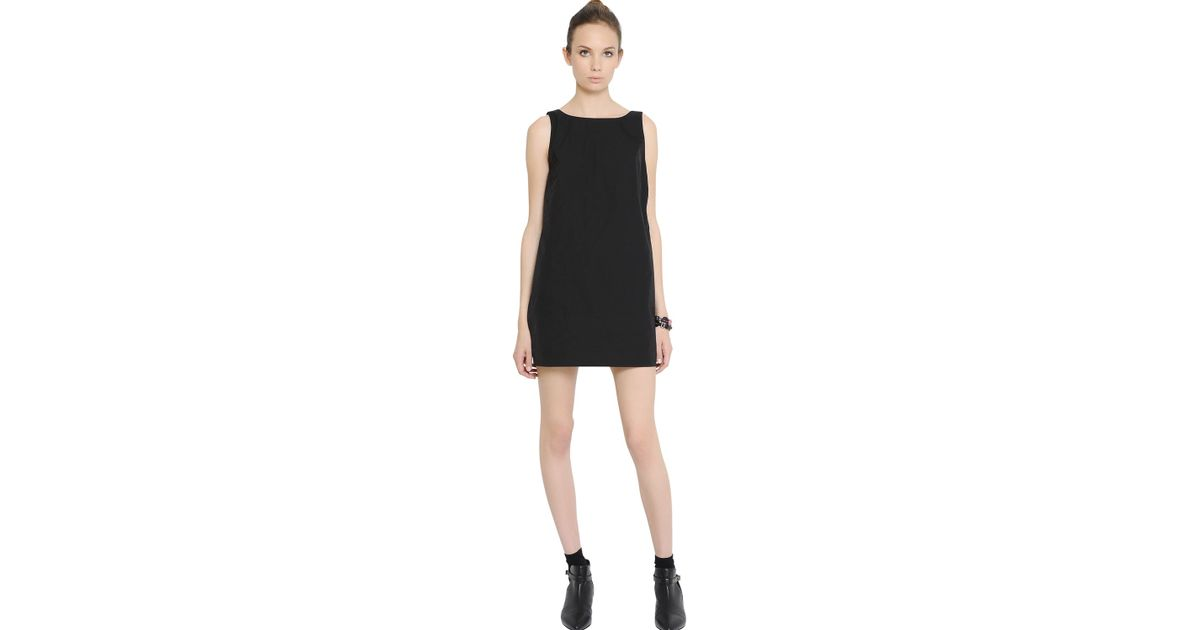 Lyst Red Valentino Techno Taffeta Dress With Bow Detail In Black