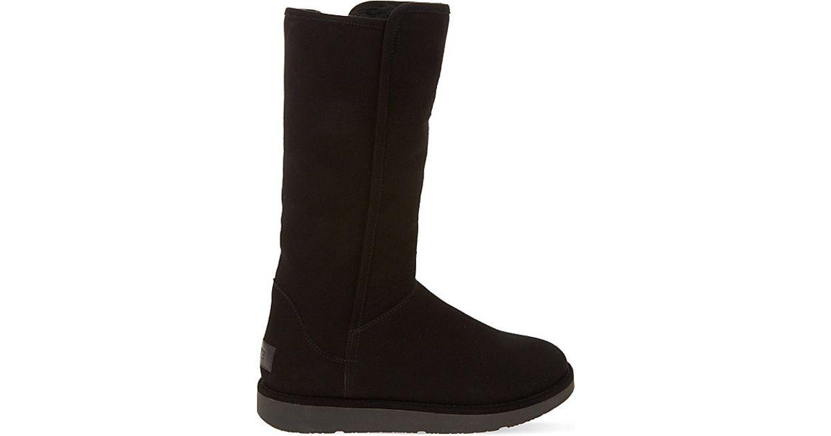 ugg abree suede boots in black lyst. Black Bedroom Furniture Sets. Home Design Ideas