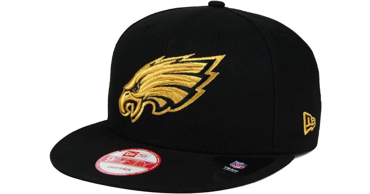 premium selection 5c79c 2a707 ... new era 48d18 2b55e  sweden lyst ktz philadelphia eagles black metallic gold  9fifty snapback cap in black for men f28bd