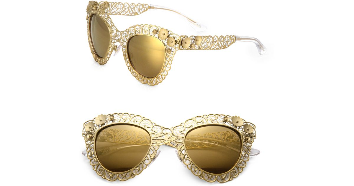 Dolce And Gabbana Sunglasses Foldable  dolce gabbana sunglasses in metallic lyst