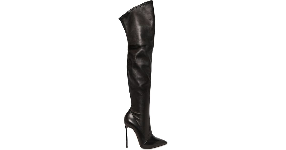 Casadei 120MM BLADE STRETCH LEATHER BOOTS