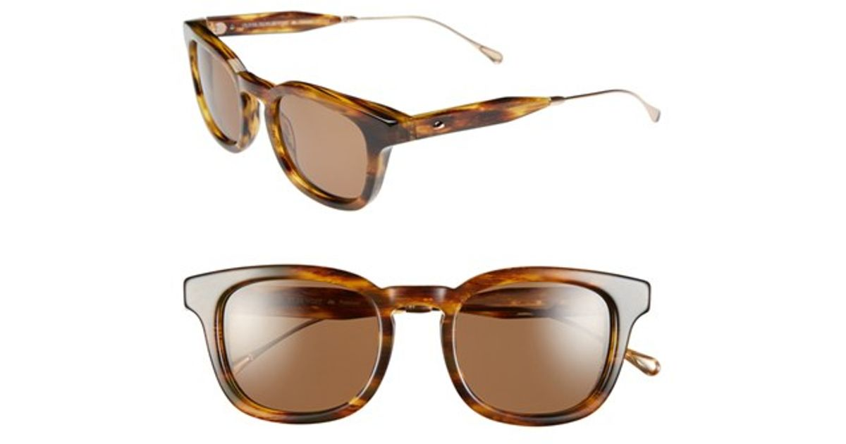 ab9e6dc18e Lyst - Oliver Peoples  cabrillo  49mm Polarized Sunglasses - Light  Tortoise  Canyon in Brown for Men