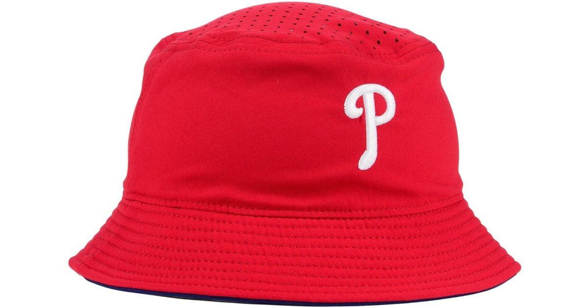 Lyst - Nike Philadelphia Phillies Vapor Bucket Hat in Red for Men f392496d411
