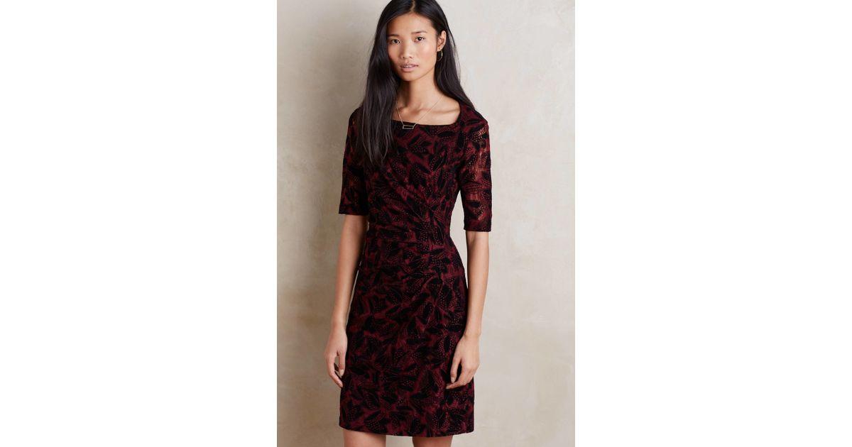 991066882f2 Lyst - Maeve Elorn Dress in Red