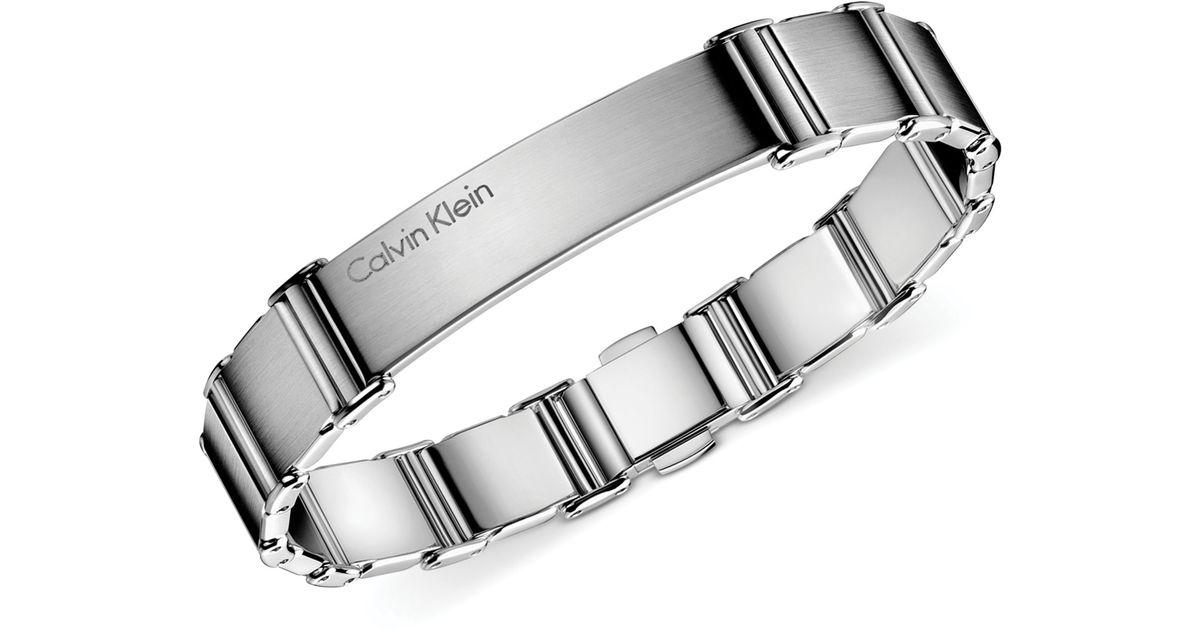 Lyst Calvin Klein Mens Stainless Steel Polished Link Bracelet In Metallic For Men