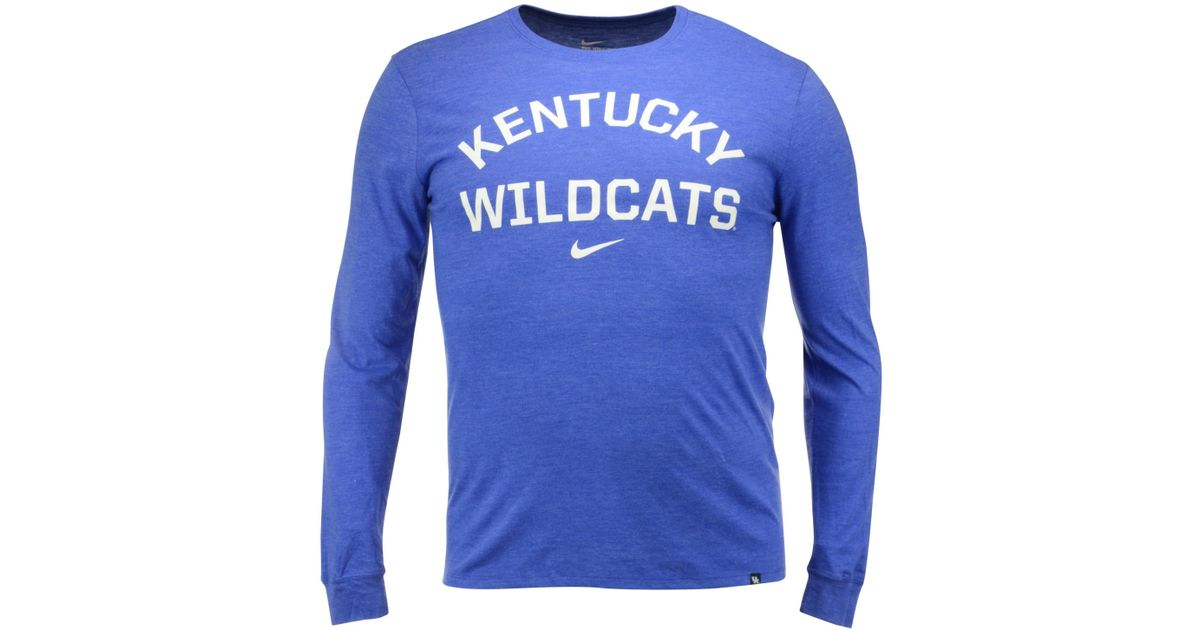 Lyst - Nike Men s Long-sleeve Kentucky Wildcats Conviction T-shirt in Blue  for Men c2c258e05ee4