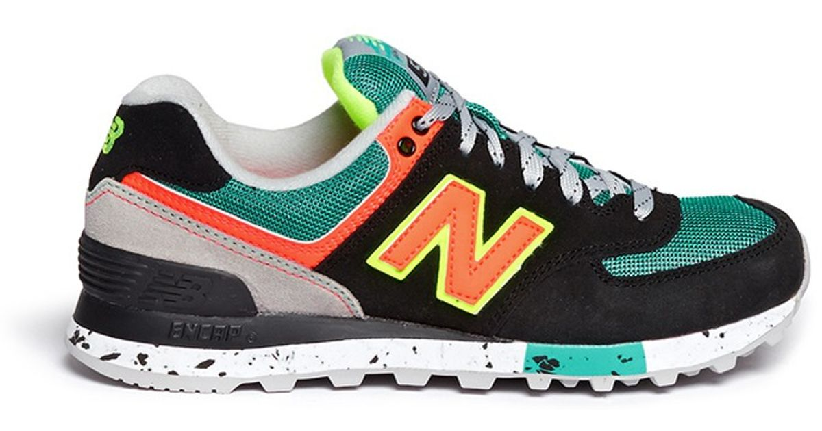 4cead2d908e1a New Balance '574 Classic' Mesh Suede Sneakers - Lyst