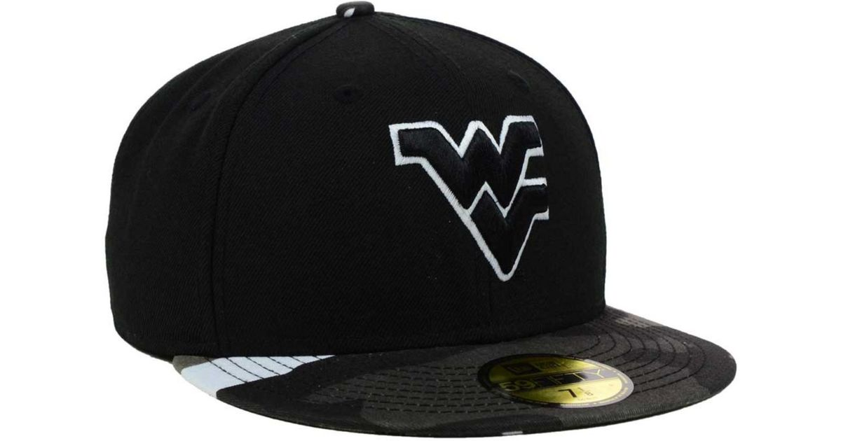 sports shoes 1c273 839b9 ... france lyst ktz west virginia mountaineers urban camo 59fifty cap in  black for men 30756 149c7