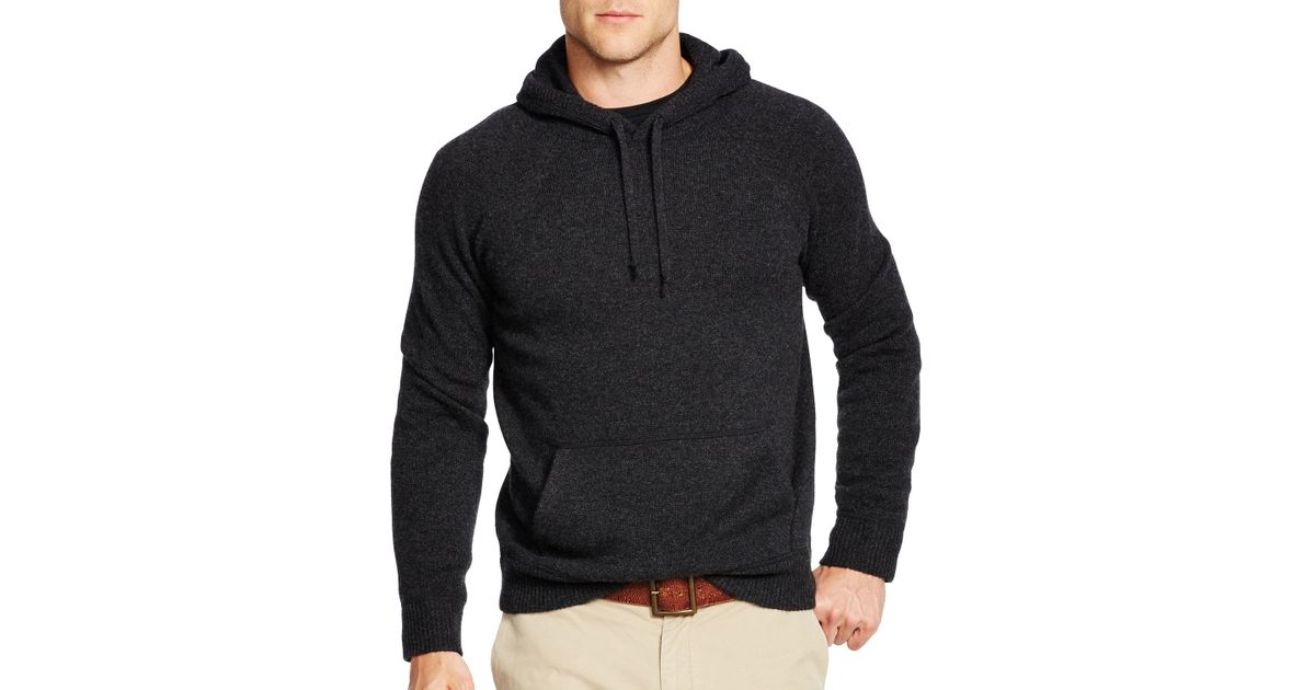Ralph lauren Polo Hooded Cashmere Sweater in Black for Men | Lyst