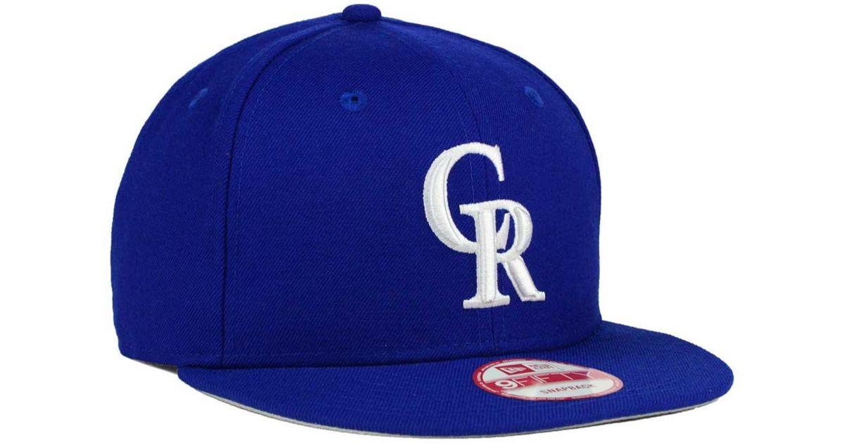 premium selection 63a8d f22d6 ... coupon lyst ktz colorado rockies c dub 9fifty snapback cap in blue for  men 4ebf2 073f3 ...