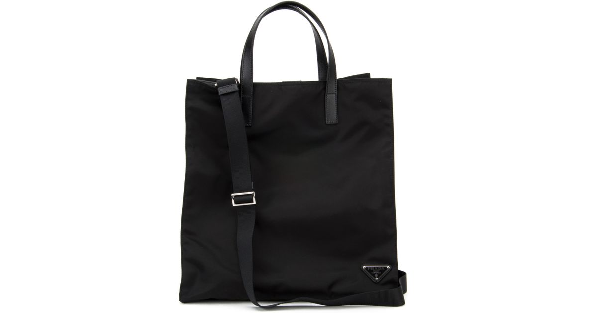 Prada Leather Tote in Black for Men (NERO) | Lyst