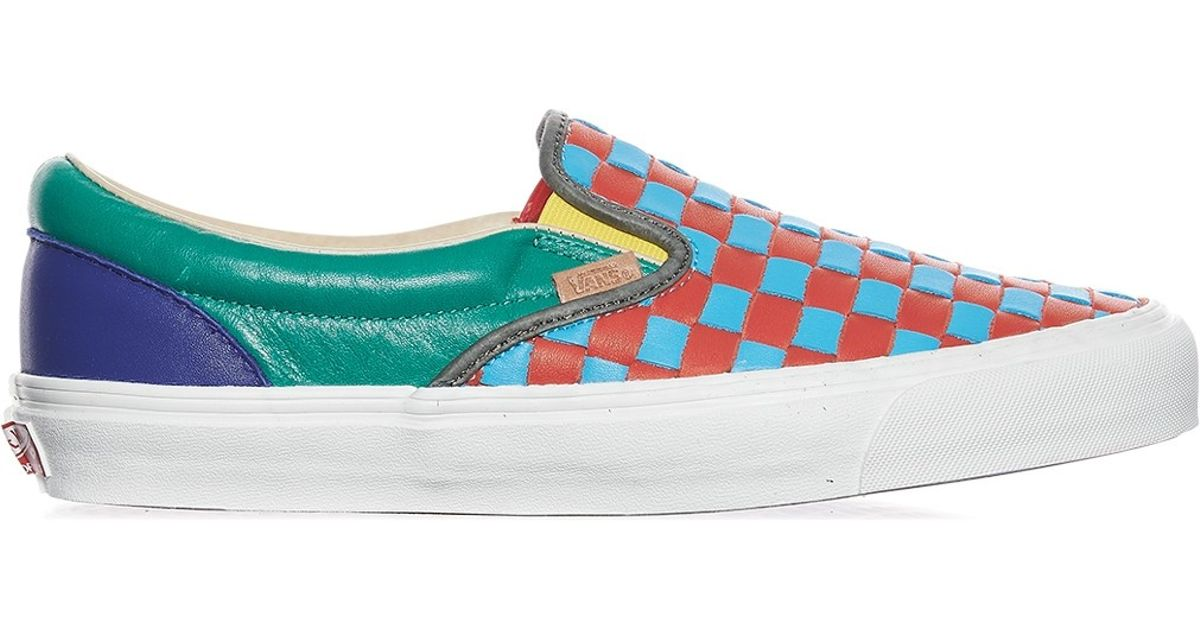 5bb80a4478 Lyst - Vans Og Classic Slip-on Lx 50th Checkerboard Anniversary Sneakers  for Men