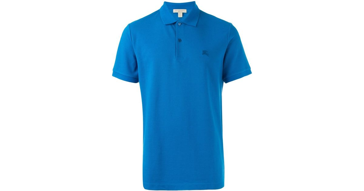 Burberry Classic Polo Shirt In Blue For Men Lyst