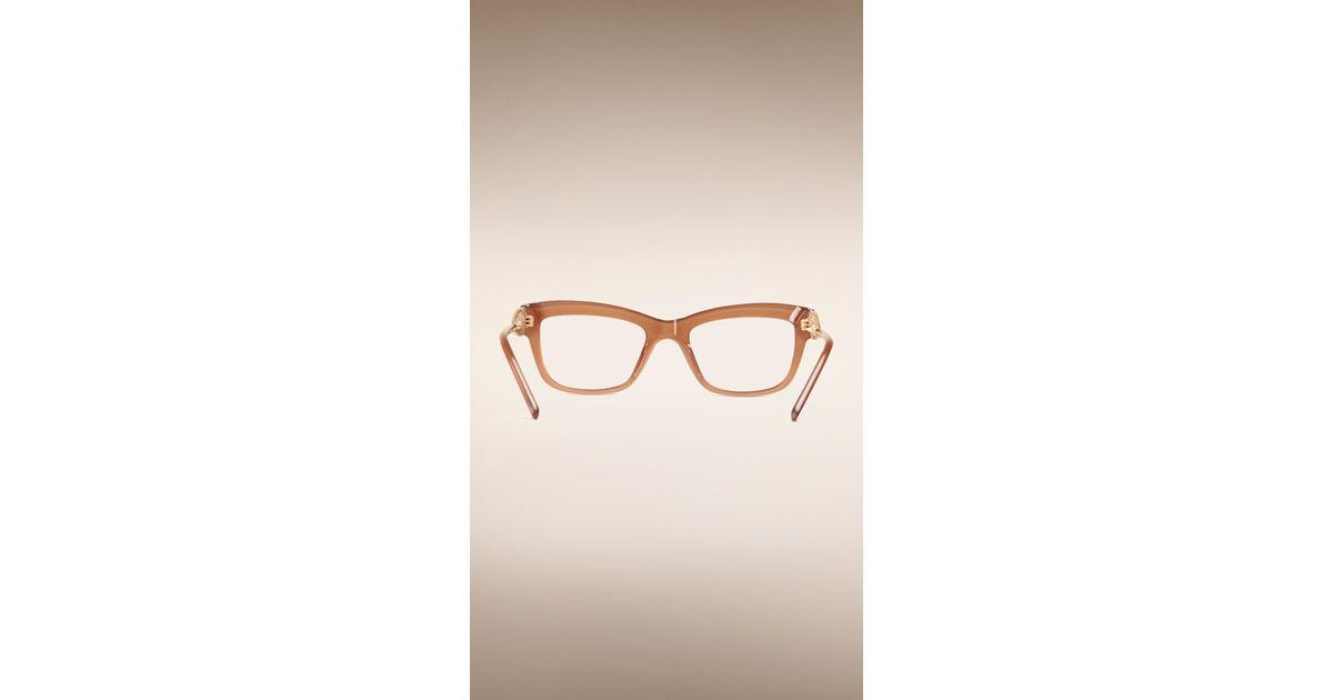 b25257d520 Lyst - Burberry Gabardine Collection Cat-eye Optical Frames in Brown