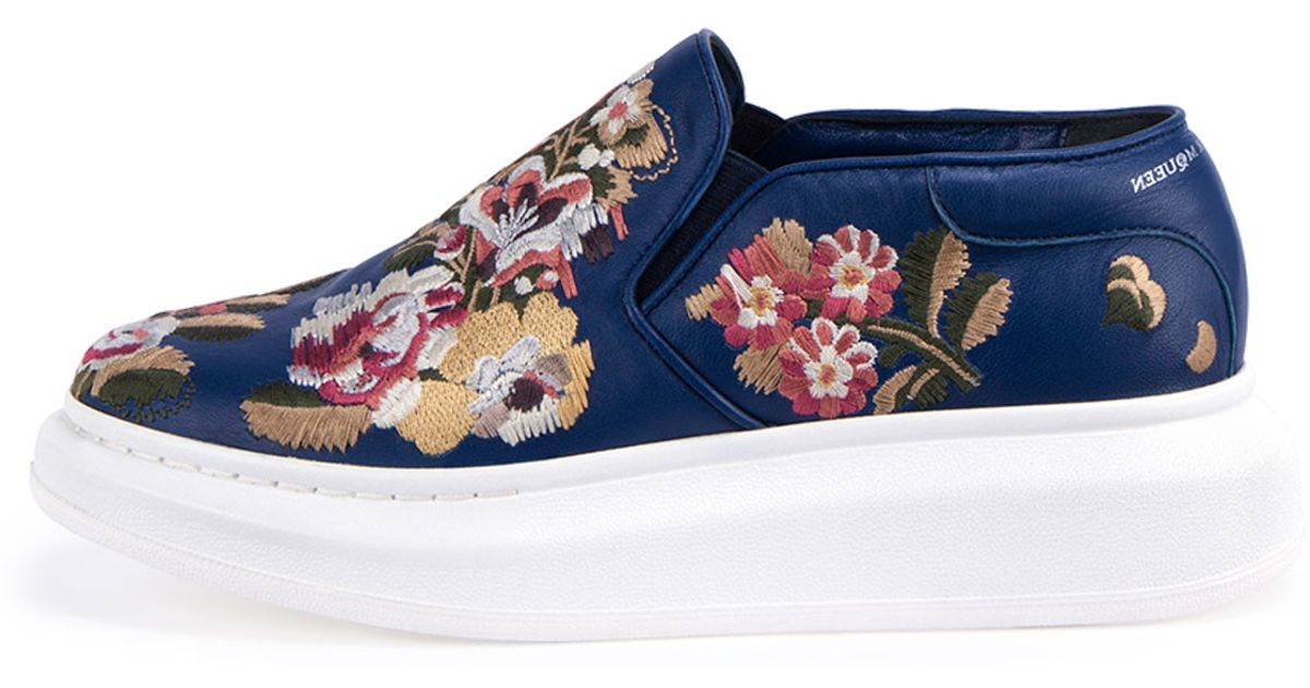 Embroidered platform sneakers Alexander McQueen 8H6Mjyx8c