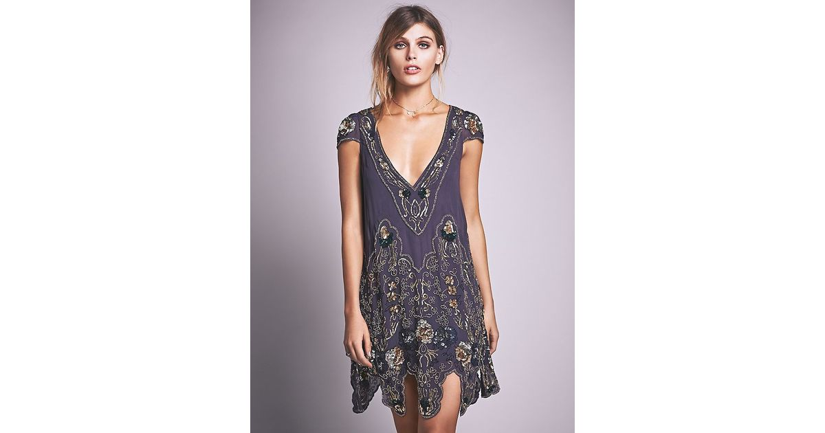 lyst free people magic garden party dress in blue - Garden Party Dress