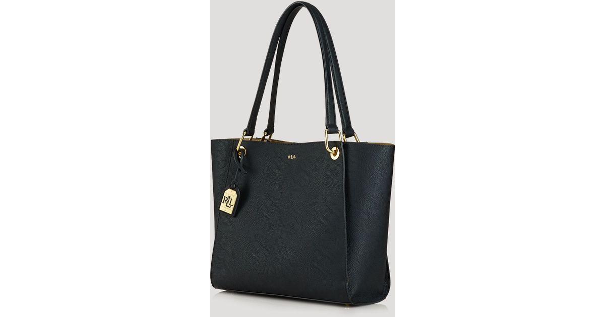 920401c79c Lyst - Ralph Lauren Lauren Tote - Aiden Shopper in Black