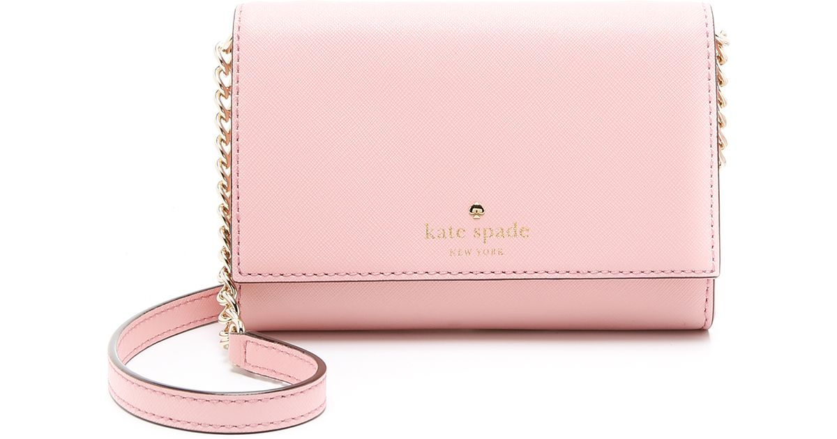Lyst - Kate Spade Cami Cross Body Bag in Pink 2e7cfc7357b4